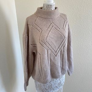 H&M Beige Chunky Knit Sweater